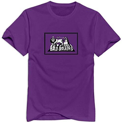 Tec&Kim Bad Brains Band Unique 100% Cotton T Shirts f Mens