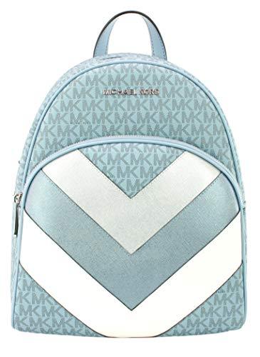 Michael Kors Abbey Backpack Chevron PVC Pale Blue