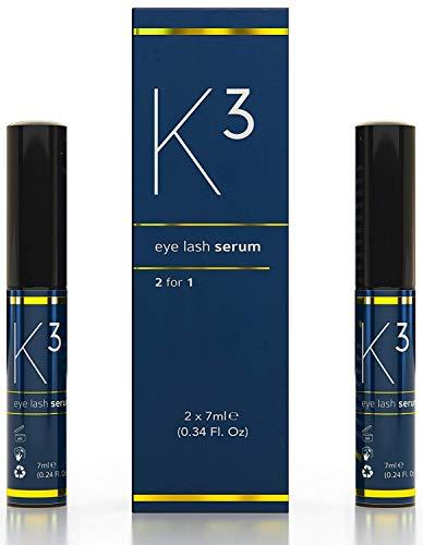 VBNK Wimpernserum K3 Vorteilspack (2x) - für schwungvolle Wimpern – dynamischer Augenaufschlag ohne Hormone, 14ml