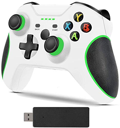 Game Controller for Xbox One, Wireless Enhanced Controllers for Xbox One S/One X/One/One Elite/PC Windows 10/Android Phone(White)