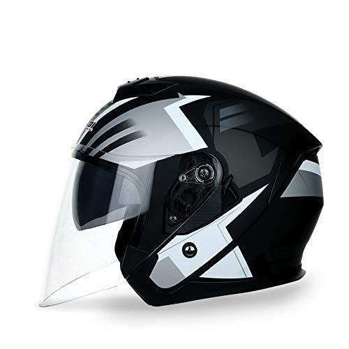 KIRA Casco Moto Integral Cascos Integrales Adultos Mujer Y Hombre Adecuado para La Conducción Todoterreno (m, L, XL, 2XL)