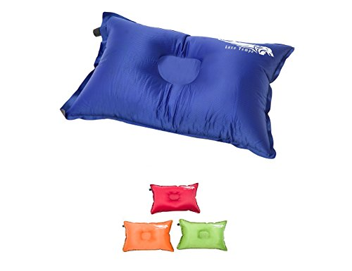 Luxe Tempo Self Inflating Camp Pillows Ultralight Compressible Travel Pillow for Backpacking Road Trips Air Travel