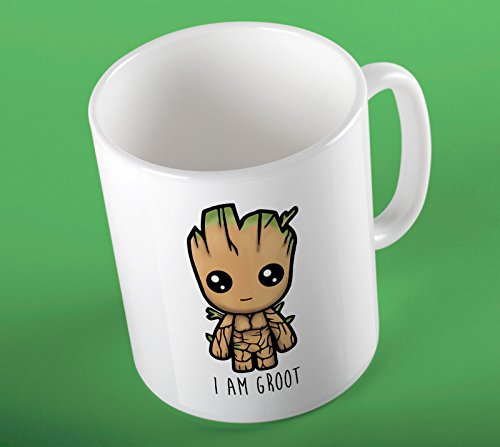 SMARTYPANTS Ich Bin Groot Guardians of The Galaxy Vol 2 Cute Illustration Fan Art inspiriert GOTG Bedruckt Besserwisser Keramik Tasse