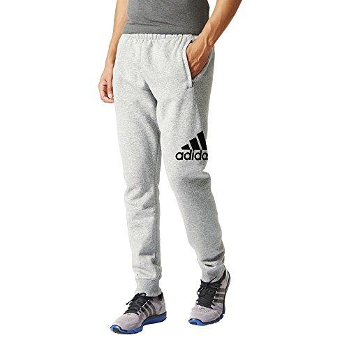 Adidas essentials pantalon de sport en polaire pour homme avec logo gris/noir taille xL aB6528