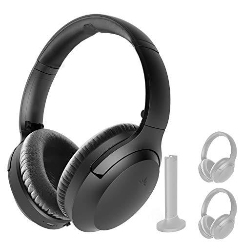 Avantree AS90C, un Segundo par de Auriculares para el Set de TV inalámbrico Avantree Opera, Auriculares Bluetooth 5.0, Volumen máximo Alto, sin retardo de Audio, botón de Audio de TV para Silencio