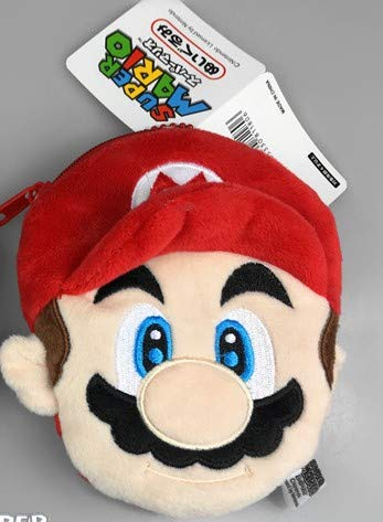 FENGHE Super Mario Mochila 2 Estilos Super Mario Bros Monedero Monedero Unisex Bolso Kawaii Multifuncional Anime Peluches