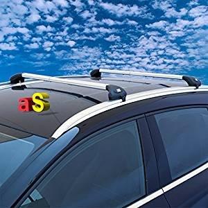 AutoShop - Barras portaequipajes para coche Viva 2 integradas para coche