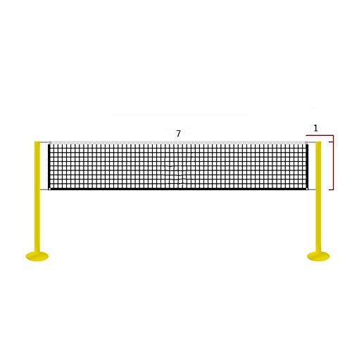 Dfghbn Redes de Voleibol Red del Voleibol de Playa de Arena de Voleibol Neto Interior y Exterior portátil 950x100cm Formación Red de Voleibol Easy Setup Net (Color : Black, Size : 950x100cm)