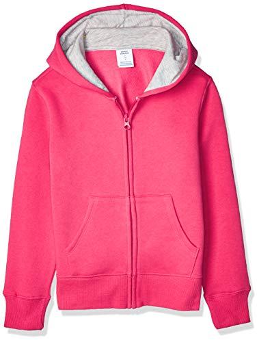 Amazon Essentials Fleece Zip-up Hoodie, fashion-hoodies Niñas, Frambuesa, Medium (Talla fabricante: 8 Jahre)