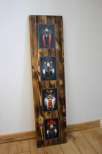 """JOKA International - Black Forest Schwarzwaldbilder auf Holz """"Matze"""" 60 x 20 x 1.5 cm Design trifft Geschichte, eine perfekte Kombination aus modern und rustikal. (Originale von Sebastian Wehrle)"""