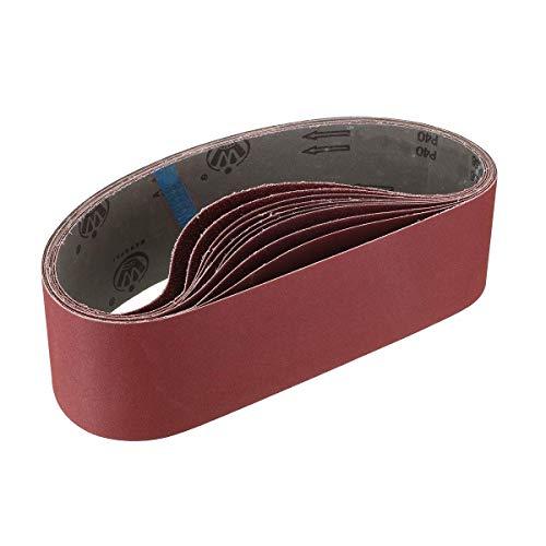 KONGMING Schleifbänder, 100 x 915mm 80 120 150 240 400 Dick Fein-Schleifbänder für Bandschleifer (10 Stück)…