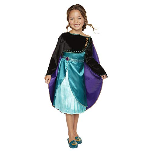 Disney Frozen 2 Queen Anna Dress – Outfit Fits Sizes 4-6X – Costume for Girls Ages 3+
