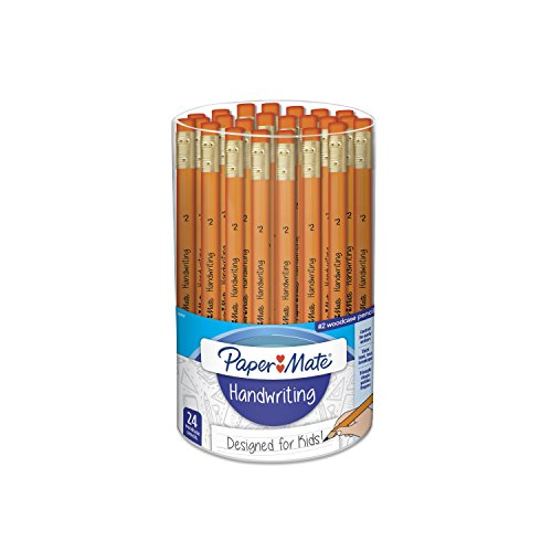 Paper Mate Handwriting Woodcase Pencils, Orange Barrels, 24 Count (2021787)