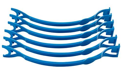 LenPro - Ordnergriff - Hilfsmittel bei Tendinitis, blau, 6 Stück