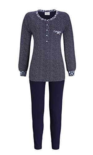 Ringella Lingerie Damen Pyjama mit Pünktchendessin Night 40 9561218, Night, 40