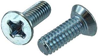 Brighton-Best International 580427 Flat Head Screw 10-24 Thread Size Pack of 100 7//8 Long Slotted Steel