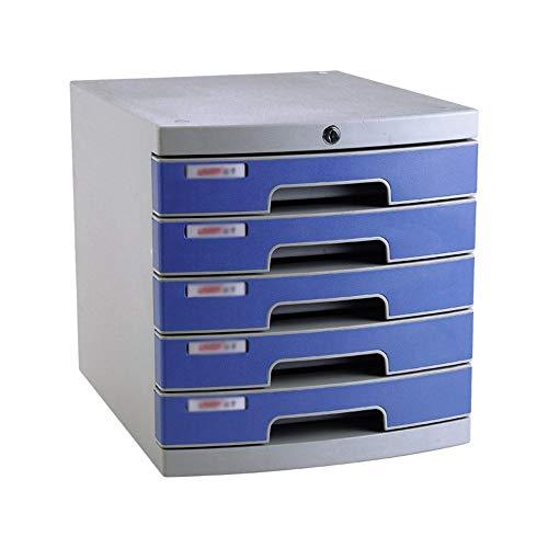 Jianghuayunchuanri Bandeja de Archivos de Oficina Desktop Organizer Box Lockable Desktop Data Gabinete de Escritorio de plástico Organizador Compartimentos Suministros de papelería de Oficina