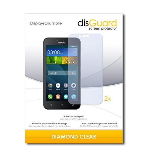 disGuard 2 x Bildschirmschutzfolie Huawei Y5 Dual SIM Schutzfolie Folie DiamondClear unsichtbar