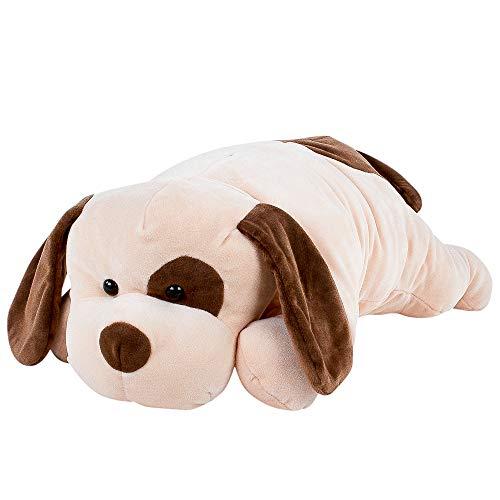 Teddys Rothenburg Kissen Hund 60 cm Creme braun Kuschelkissen Plüschtier Stofftier Kuscheltier Baby Kinder Spielzeug Plüsch