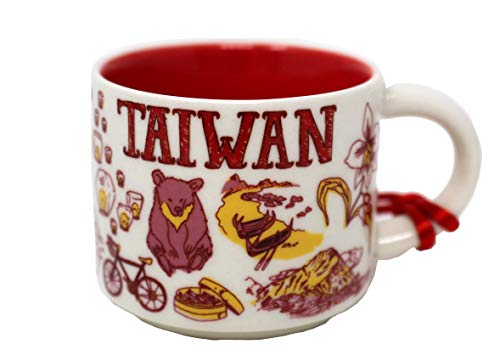 Starbucks Been There Collection Taiwan Ceramic Coffee Demitasse Ornament 2 Oz