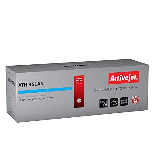 ActiveJet ATH-351AN HP CF351A再生レーザーカートリッジの交換 - シアン