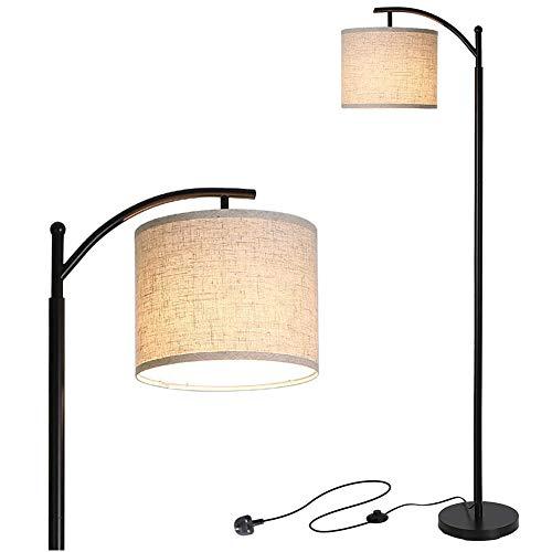 Stoff LED Stehlampen, Hänge Drum Shade Stehleuchte, Fußschalter-Funktion Hyundai Sicherheit Leselampe, Für Schlafzimmer Lesesaal Piano Büro