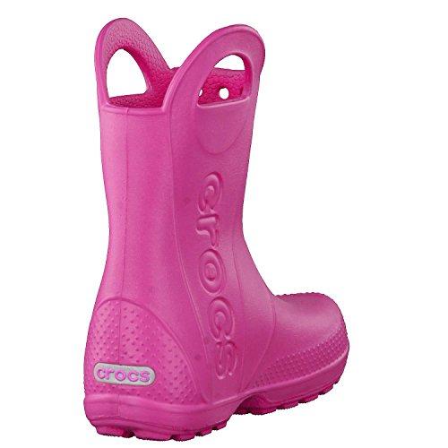 Crocs Unisex Kids Handle It Rain Boot, Candy Pink, 8 UK Child