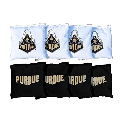 Victory Tailgate NCAA Collegiate Regulation Cornhole Game Bag Set (8 Bags Included, Corn-Filled) - Purdue Boilermakers