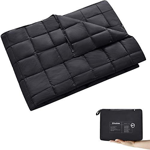 KingCamp Black Packable Lightweight Travel Down Alternative...
