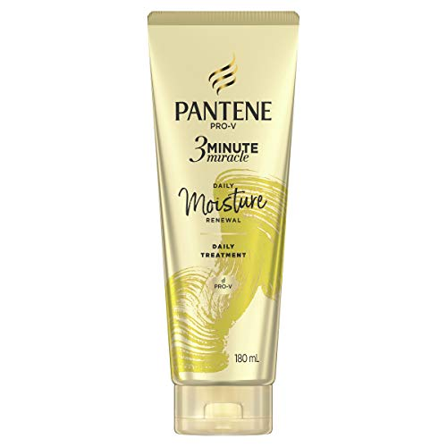Pantene 3 Minute Miracle Daily Moisture Renewal Hair Treatment: Deep Conditionining Treatment For Dry Hair 180ml