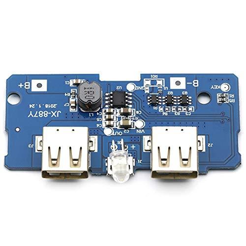 Módulo de fuente de alimentación Dual micro USB 3.7V a 5V 2A Boost Mobile banco de la energía de bricolaje 18650 Junta cargador de batería de litio PCB Paso arriba un módulo con LED Para el hogar, lab