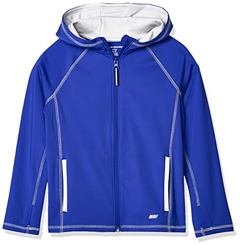 Amazon Essentials Full-Zip Active Jacket, outerwear-jackets Niños, Azul, L (Talla fabricante: 10)