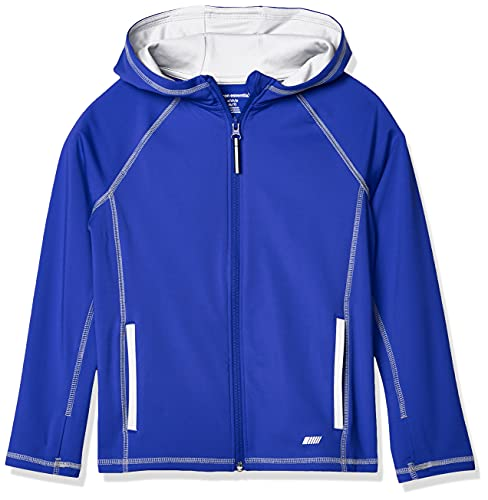 Amazon Essentials Full-Zip Active Jacket, outerwear-jackets Niños, Azul, M (Talla fabricante: 8)