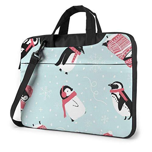 IUBBKI Laptop Case Computer Bag Sleeve Cover Penguin BlogWallpaper Waterproof Shoulder Briefcase 13 14 15.6 Inch