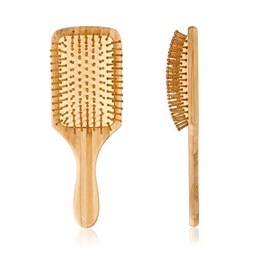 Pretty See Massage Brosse Cheveux en Bois pour un massage doux du cuir chevelu , Parfait pour Cadeaux (peigne de massage carré)