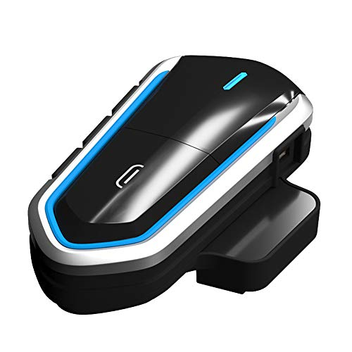 Yooha Motorcycle Bluetooth Headset/Intercom,Motorcycle Helmet Headset,Waterproof Motorbike Helmet Bluetooth Headsets FM Radio, MP3 Player,Wireless Helmet Communication Systems for Motorbike(Blue)