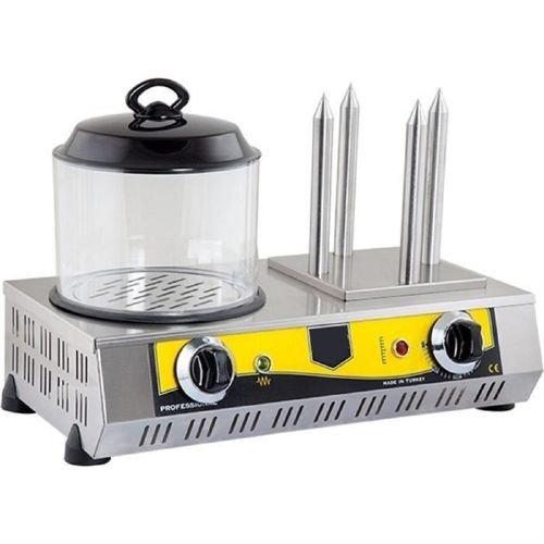 STURDY Power:1200W, 30 HOTDOG CAPACITY + 4 BUN Commercial PROFESSIONAL Hot Dog Grill hotdog steamer cooker and bun warmer roller Machine 220V