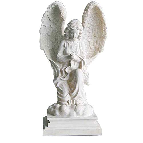 TQJ Statue da Giardino Animali Angel Sculpture, Giardino Esterno Villa Angelo Pavimento Erba Decorazione Artigianato Giardino Balcone Ornamenti in Resina Statue da Giardino Grandi in Resina