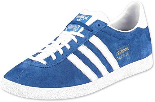 Adidas Gazelle OG, Homme Baskets - Bleu Blanc, EU 42