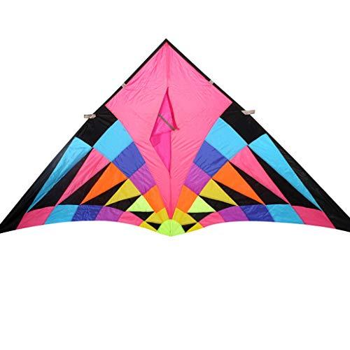 Xu Yuan Jia Shop-Cerfs-volants Grand cerf-Volant Triangulaire, cerf-Volant de Haute qualité en Tissu pour Parapluie (Taille : S)
