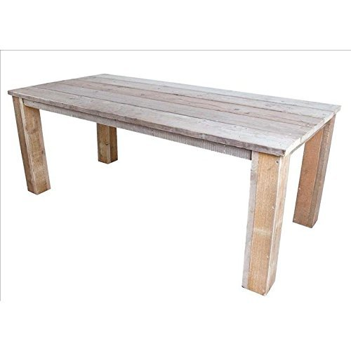 Lesli Living Bauholz Möbel Tisch Bauholztisch Gahalia Gartentisch 300x100cm