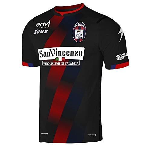 Zeus Maglia Ufficiale F.C. CROTONE Calcio Portiere Nero/Rosso/Blu (2020/2021) Taglia Large