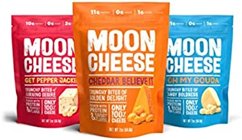3-Pack Moon Cheese 100% Natural Cheese Snack