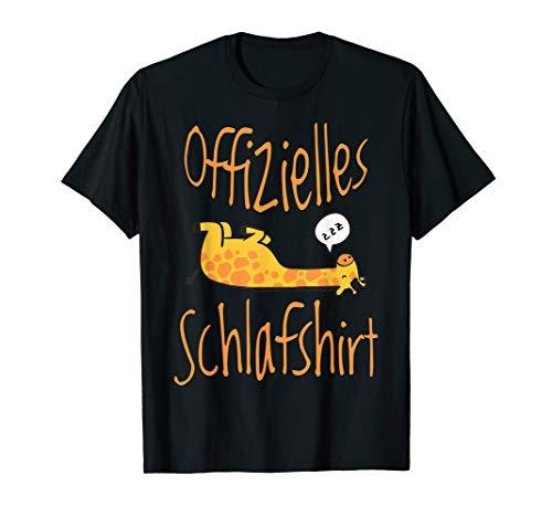 Giraffe süßes Offizielles Schlafshirt Nachthemd T-Shirt