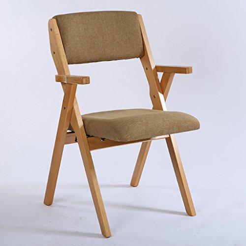 vouwstoel opvouwbare stoel Houten Vouwstoel Casual Doek Stoel Moderne Eenvoudige Eetkamer Rugleuning Stoel opvouwen Modern design 1 exemplaar