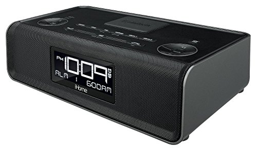 iHome iBN43 Bluetooth Stereo Dual Alarm FM Clock Radio and Speakerphone with USB Charging