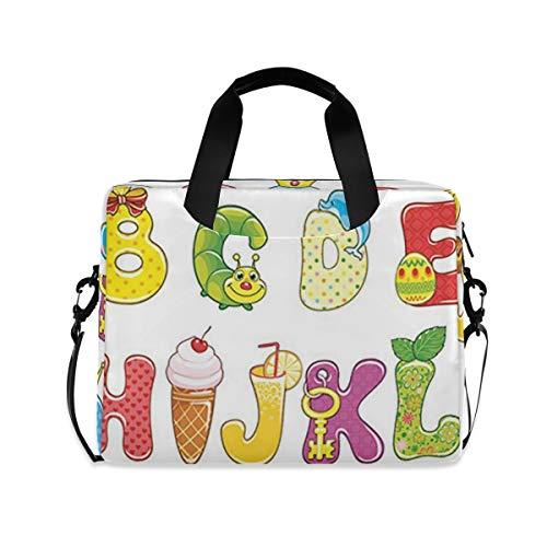 Laptop Bag, Serwetki ALFABET Laptop Backpack, Slim 16 Inch Briefcase Shoulder Bag Laptop Case