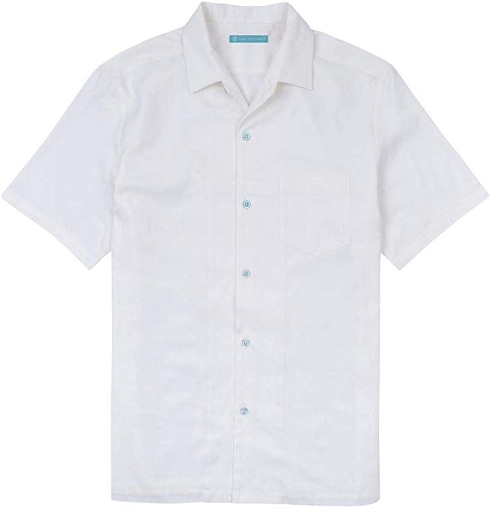 Tori Richard Mens Regular Fit Short Sleeve Pollenesia Cotton Silk Hawaiian Shirt