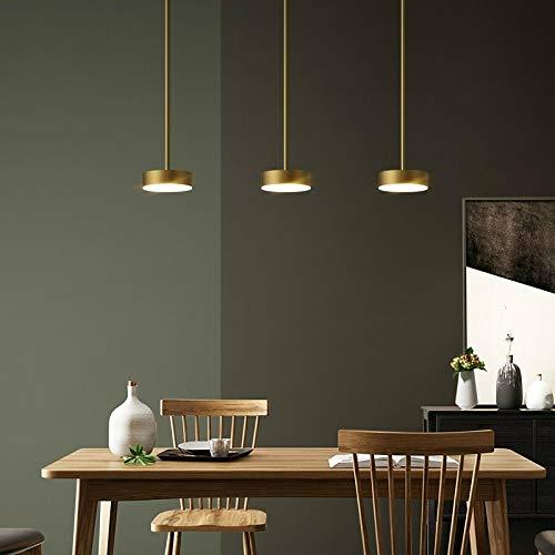 Kroonluchters LTJ Drie-Head Straight Base Copper Chandelier Bar Eetkamer Eettafel Bedroom Lamp Moderne Minimalistische Chandelier (Wit Licht) nieuw in 2020 (Color : White Light)