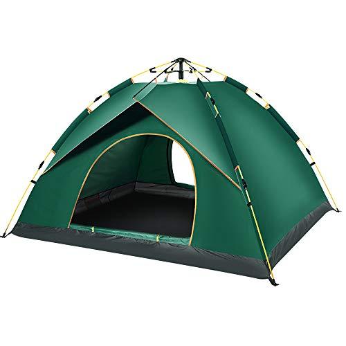 WAY-KE Campingzelt Für 2 Personen, Automatische Popup-Wasserdichtes Zelt,Geeignet Für Picknick, Wandern, Angeln, Tragbare Markise Im Freien,Grün